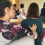 shiatsu back seated hands